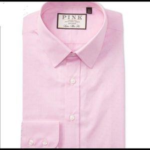 Eno Textured Solid Super Slim Fit Dress Shirt 14